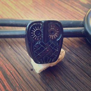 Plastic Owl Ring